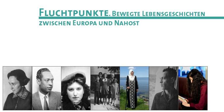 """Das Material """"Fluchtpunkte. Bewegte Lebensgeschichten zwischen Europa und Nahost"""" stellt sieben exemplarische Lebensgeschichten mit Flucht- und Migrationserfahrungen vor."""