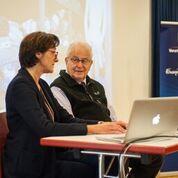 Landesrätin Bernadette Mennel begrüßt Naftali Fürst