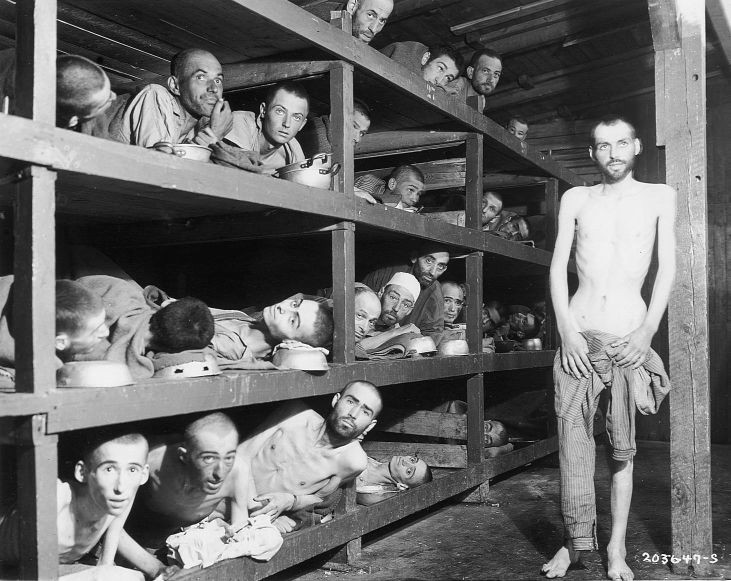 Buchenwald-Foto, 16. April 1945, USHMM