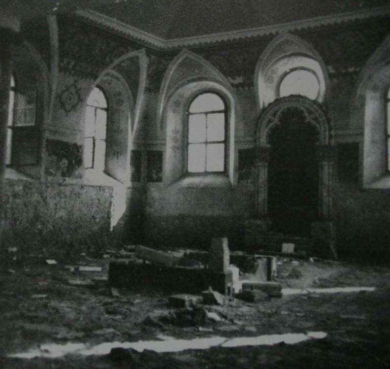 Die verwüstete Synagoge in Mattersburg nach dem 9. November 1938 (Quelle: Landesarchiv Burgenland)