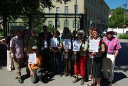 TeilnehmerInnen der WOZ-LeserInnen-Reise ins Rote Wien sowie die ReiseorganisatorInnen vom Ludwig Boltzmann Institut für Menschenrechte (BIM)