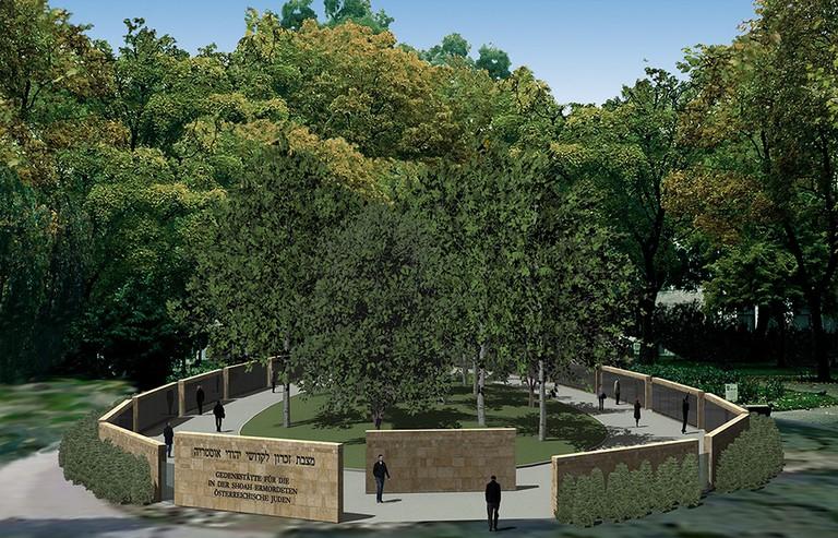 Visualisierung Grundansicht Gedenkstätte © Wehofer Architekten