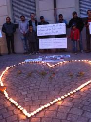 Gedenkfeier für tote Flüchtlinge, Feldkirch 8.9.2015