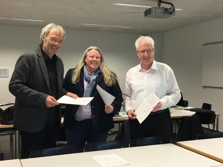 Kooperation vertieft: Prof. Peter Gautschi (PH Luzern), Kori Street (USC Shoah Foundation) und Werner Dreier (_erinnern.at_)