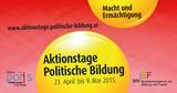 Aktionstage Politische Bildung 2015 - Neuer Veranstaltungskalender ab 9.1.2015 online: Schwerpunktthema Macht und Ermächtigung