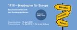 Geschichtswettbewerb des Bundespräsidenten zum Gedenkjahr: 1918 – Neubeginn für Europa